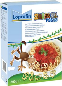Loprofin Low Protein Pasta Animal Shapes 500g Box