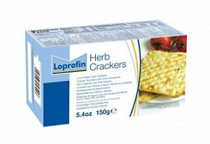 Loprofin Low Protein Herb Crackers 150g Box