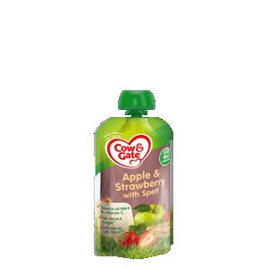 Apple & strawberry with spelt