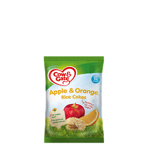 Apple & orange rice cakes