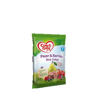 Pear & berries rice cakes