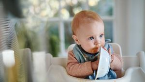 Baby Eating With Hands