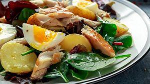 Egg Fish Potato Salad