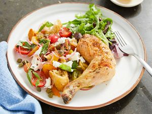 Panzanella Mozzarella Chicken Salad