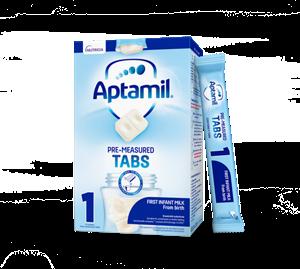New Aptamil® First Infant Milk Pre-Measured Tabs